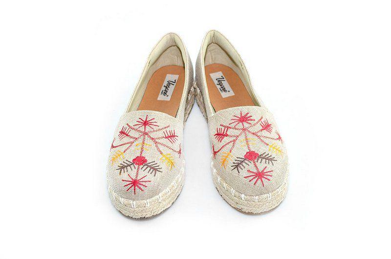 Alpargatas Vegono shoes Flatform Margarida Nude Bordada