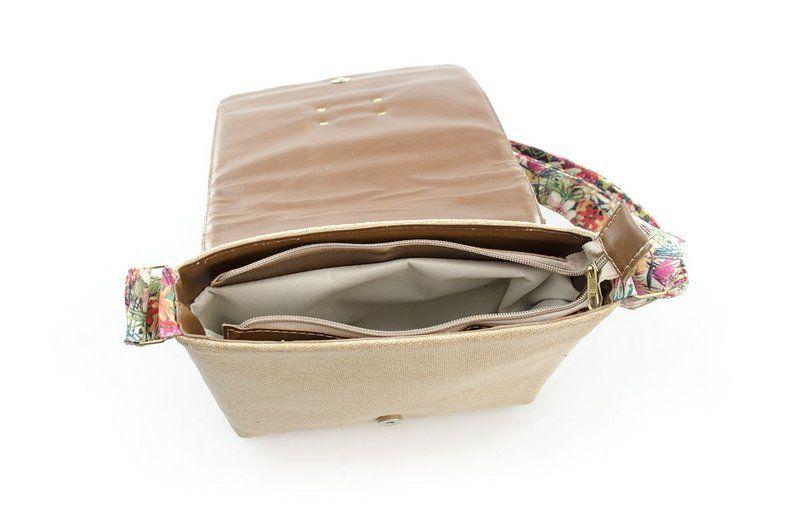 Bolsa Transversal Vegano Shoes Caleana Floral