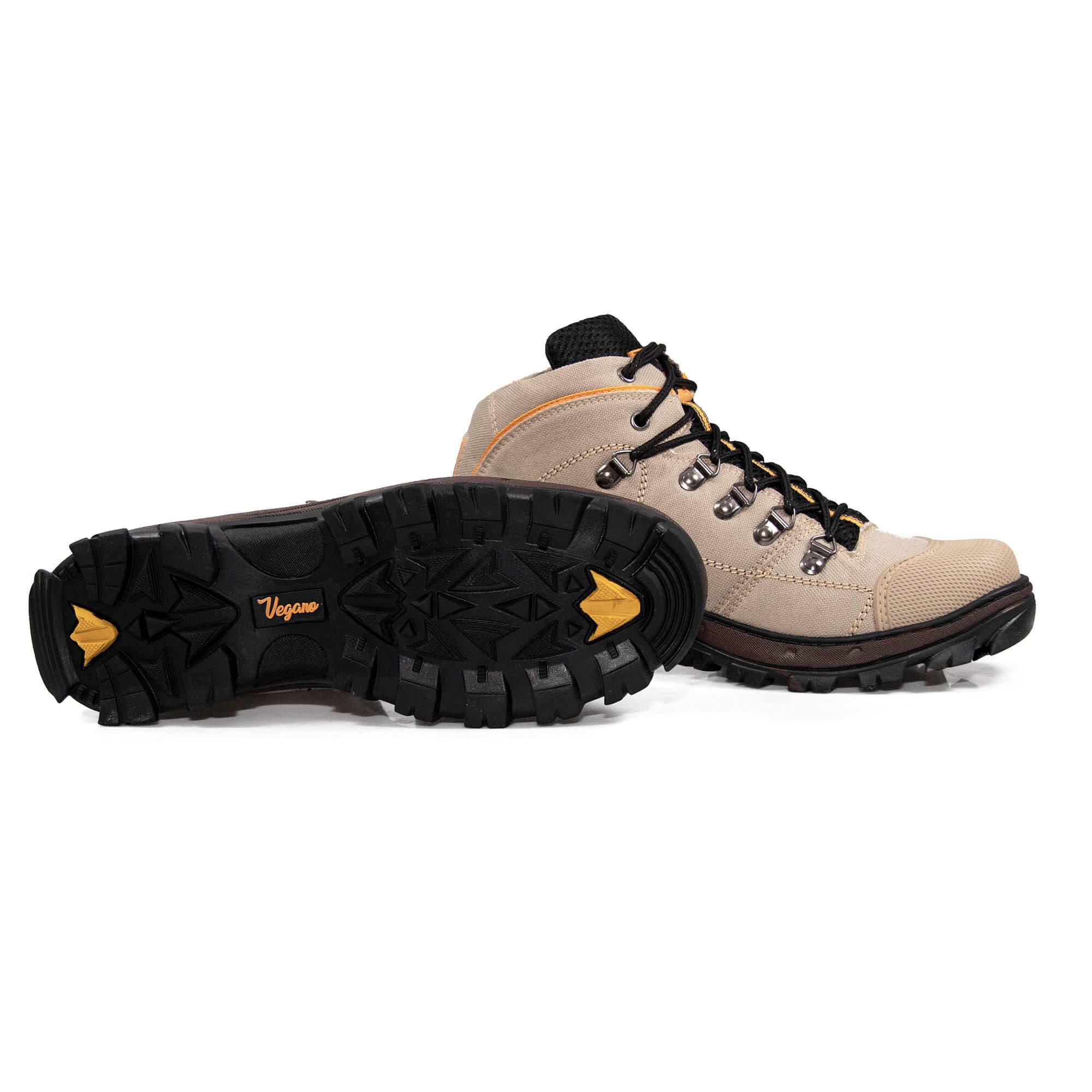 Bota Vegano Shoes Cross Amazônia Premium Bege