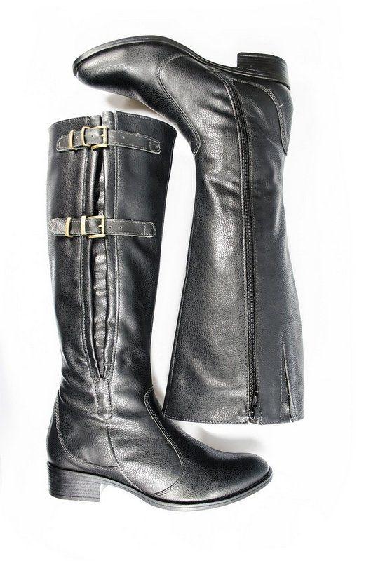 Bota Vegano Shoes Natasha Preta (com regulagem)