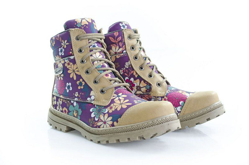 Bota Vegano Shoes Naturale Floral Roxo