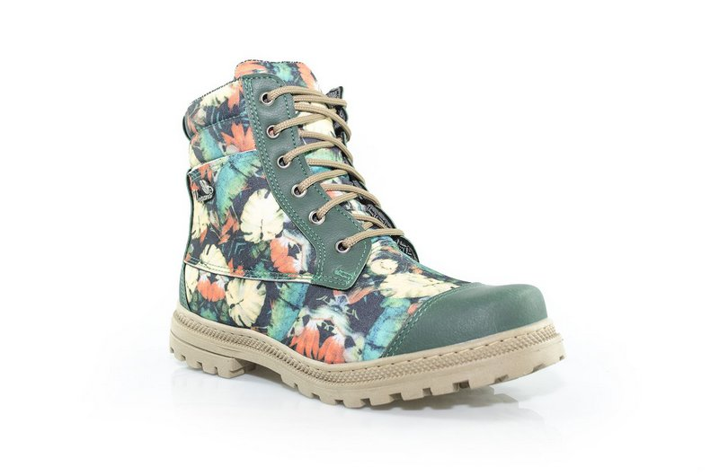 Bota Vegano Shoes Naturale Floral Verde