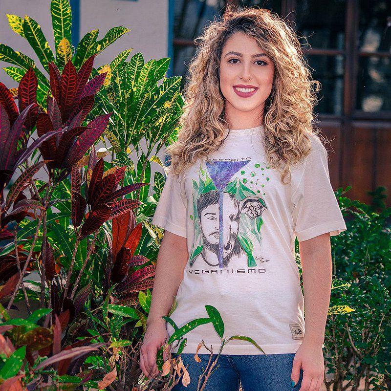 Camiseta veganismo - Algodão orgânico