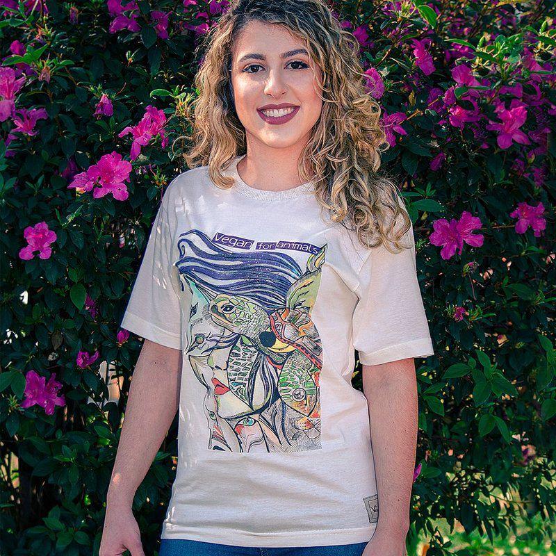 Camiseta Vegano Shoes Vegan for animals - Algodão orgânico