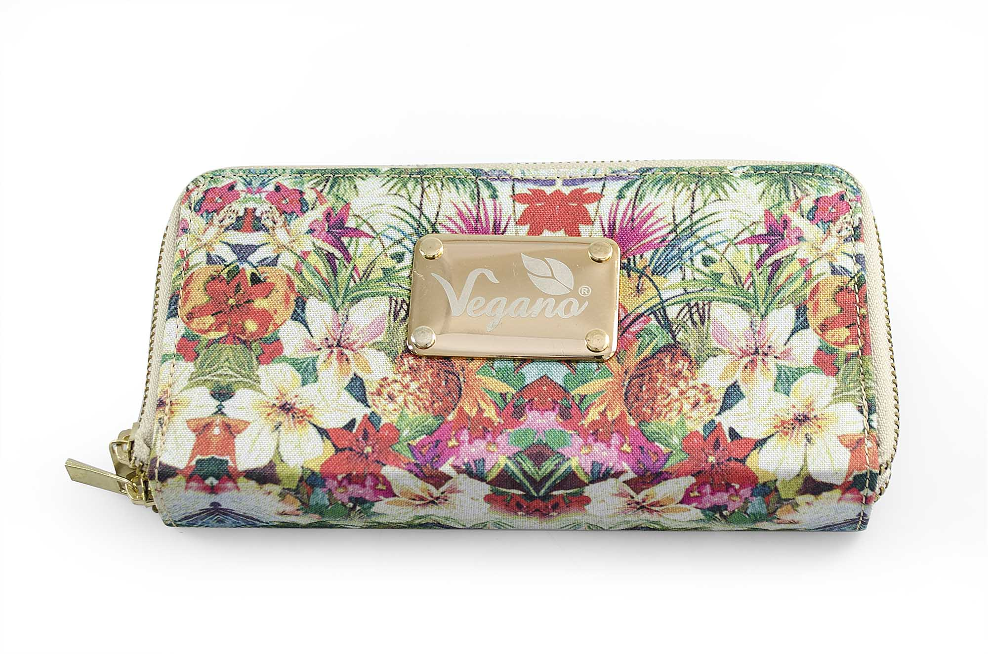 Carteira Vegano Shoes Candytuft Floral Rosa