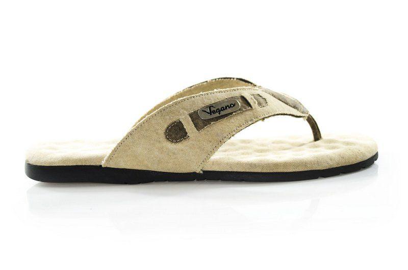 Chinelo Vegano Shoes Verbena Bege (Lona de caminhão)