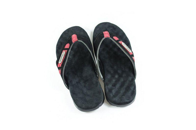 Chinelo Vegano Shoes Verbena Preto/vermelho