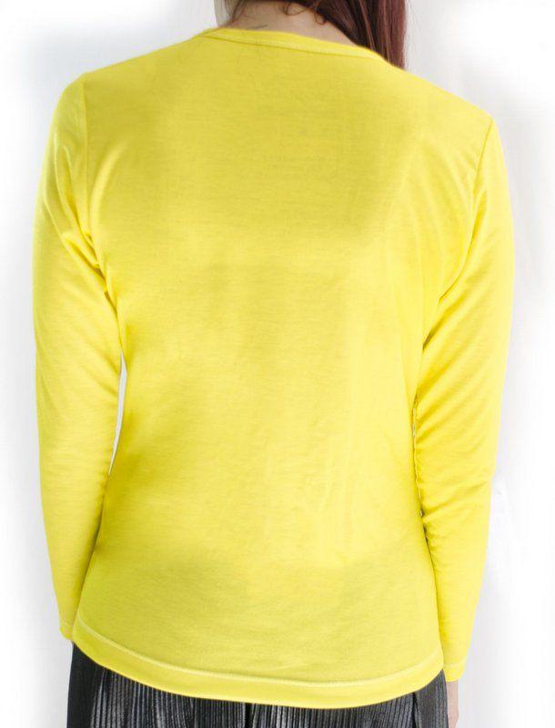 Manga longa alisso amarela