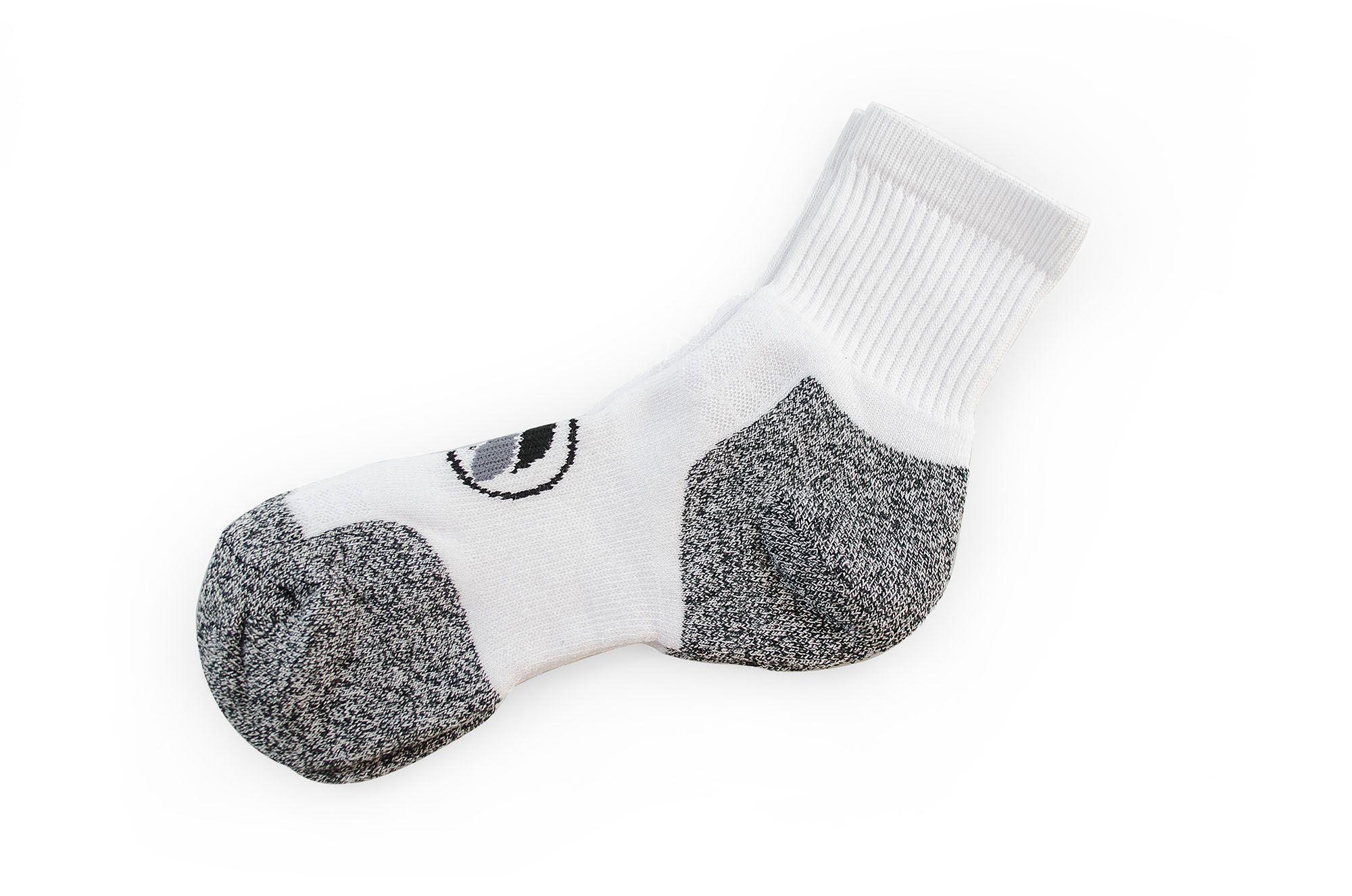 Meia Vegano Shoes Viburgo Cano Médio Branco/Cinza