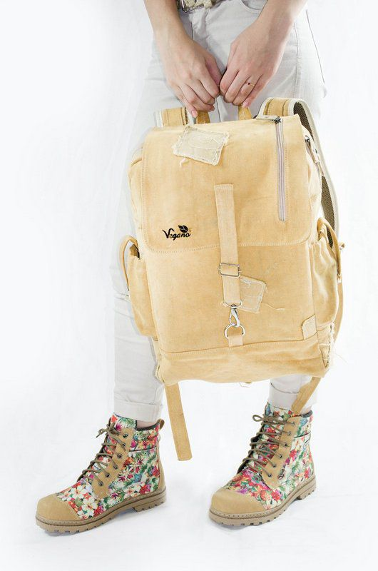 Mochila Urban backpack bege (lona de caminhão)