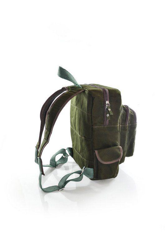 Mochila Vegano Shoes Butiá verde/marrom hidrorrepelente