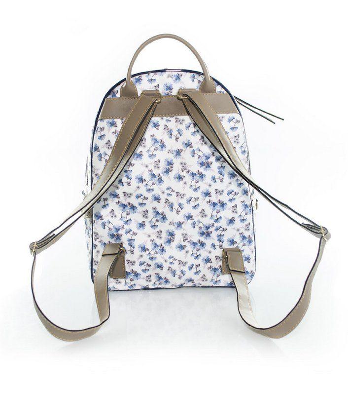 Mochila Vegano Shoes Hybrida Floral Azul