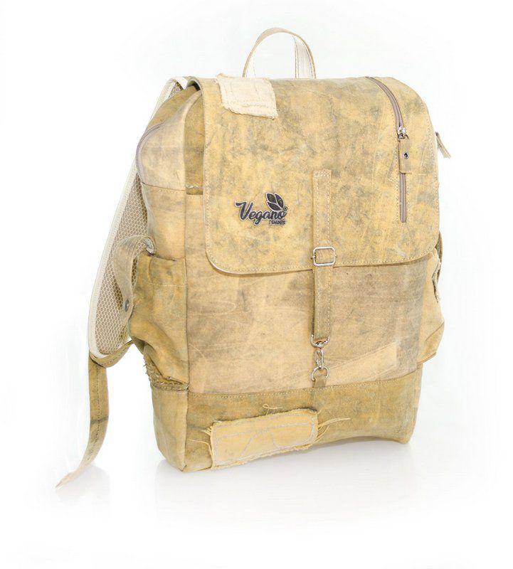Mochila Vegano Shoes Urban backpack amarela (lona de caminhão)