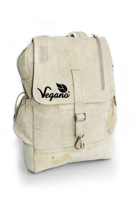 Mochila Vegano Shoes Urban backpack bege (lona de caminhão)