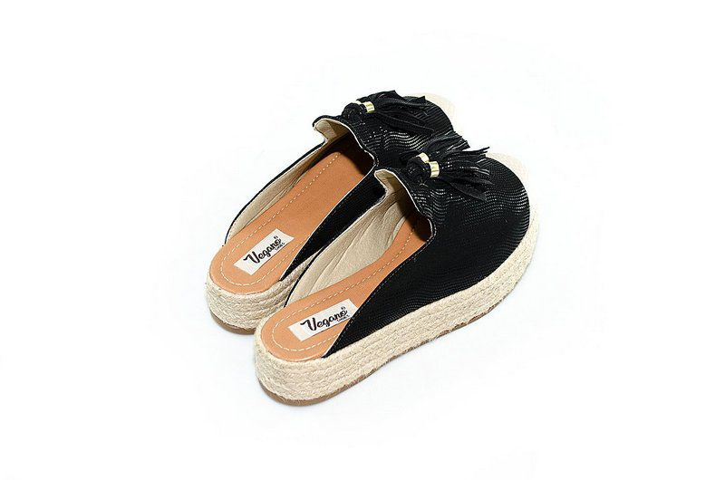 Mule Flatform Vegano Shoes Cheflera Preto