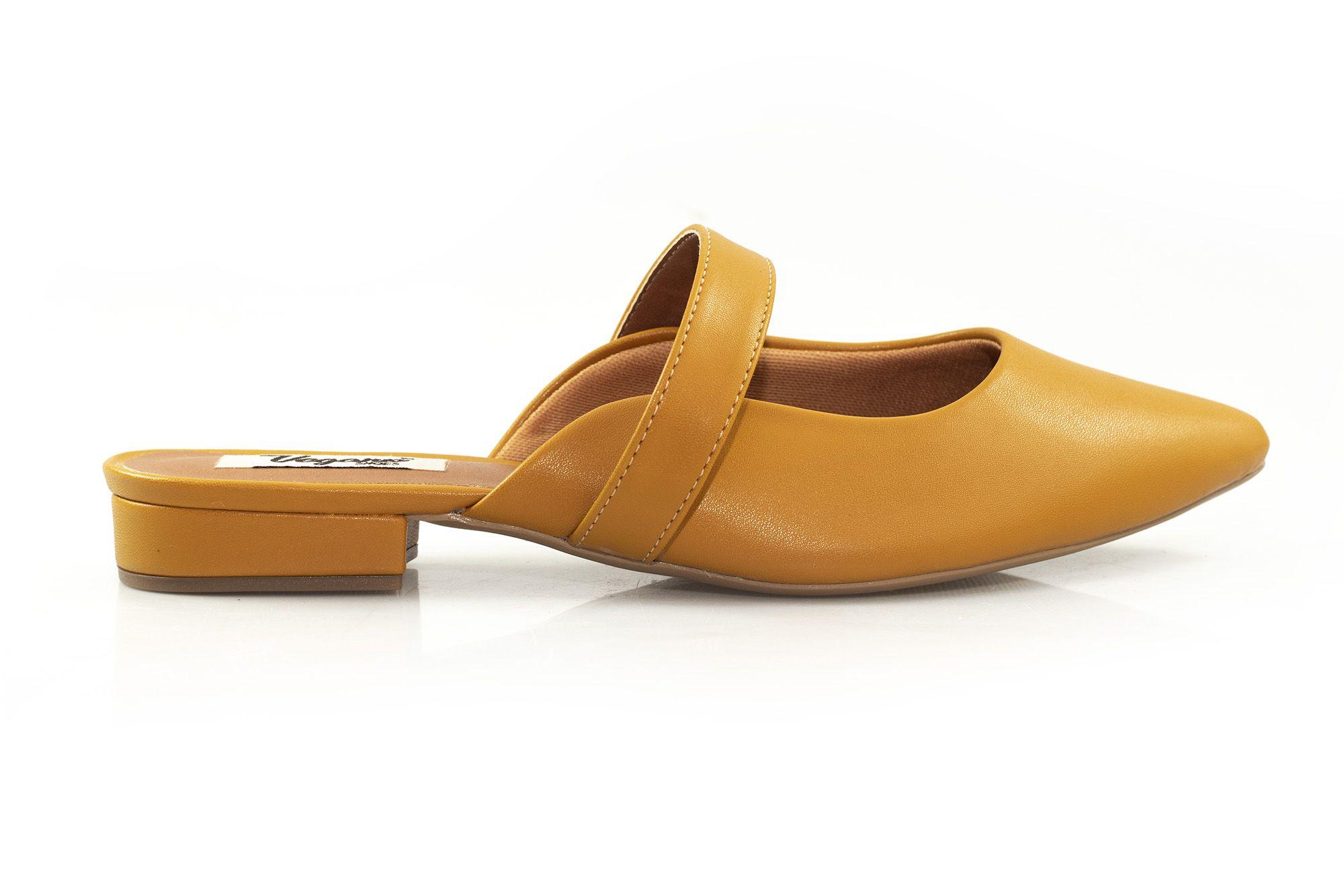 Mule Vegano Shoes Iris Mostarda