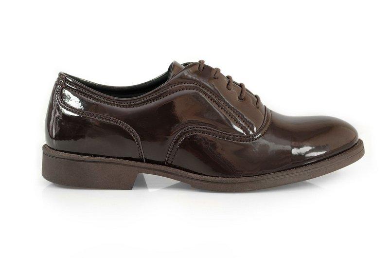 Oxford Vegano Shoes Vegan Elegance - Baru Marrom - Verniz