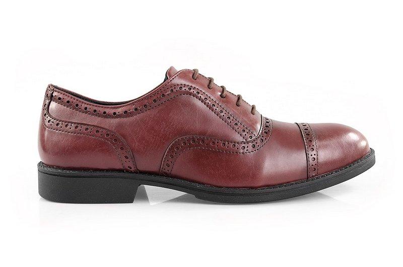 Oxford Vegano Shoes Vegan Elegance - Taro Borgonha