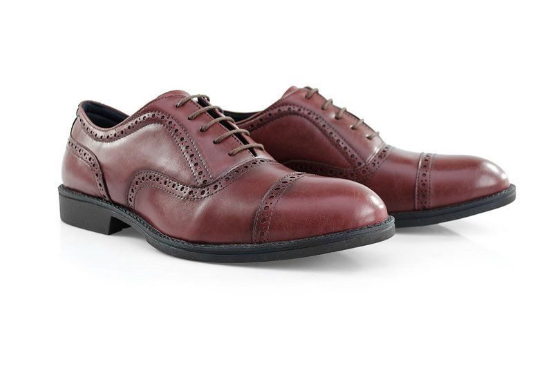 Oxford Vegano Shoes Vegan Elegance - Taro Borgonha