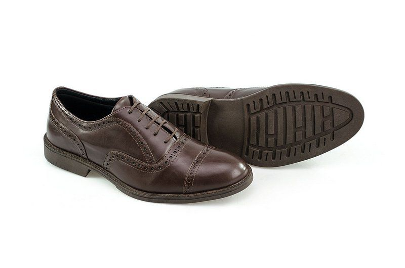 Oxford Vegano Shoes Vegan Elegance - Taro Brown
