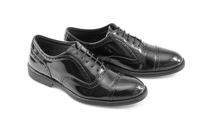 Oxford Vegano Shoes Vegan Elegance - Taro Preto - Verniz