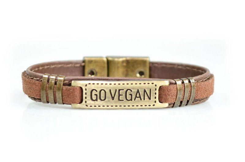Pulseira Vegano Shoes GO VEGAN 809R Marrom/Ouro velho