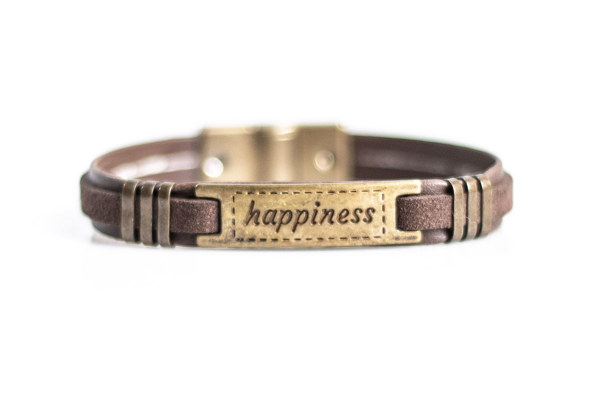 Pulseira Vegano Shoes Positividade | Happiness | 603R