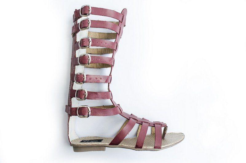 Rasteirinha Vegano Shoes Gladiadora Afelandra Bordo