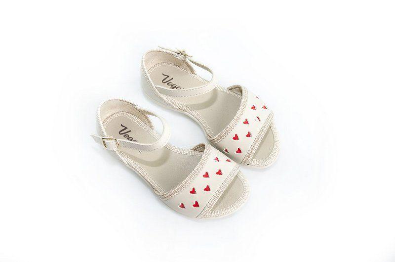 Sandália Vegano Shoes Fasciata Kids bege