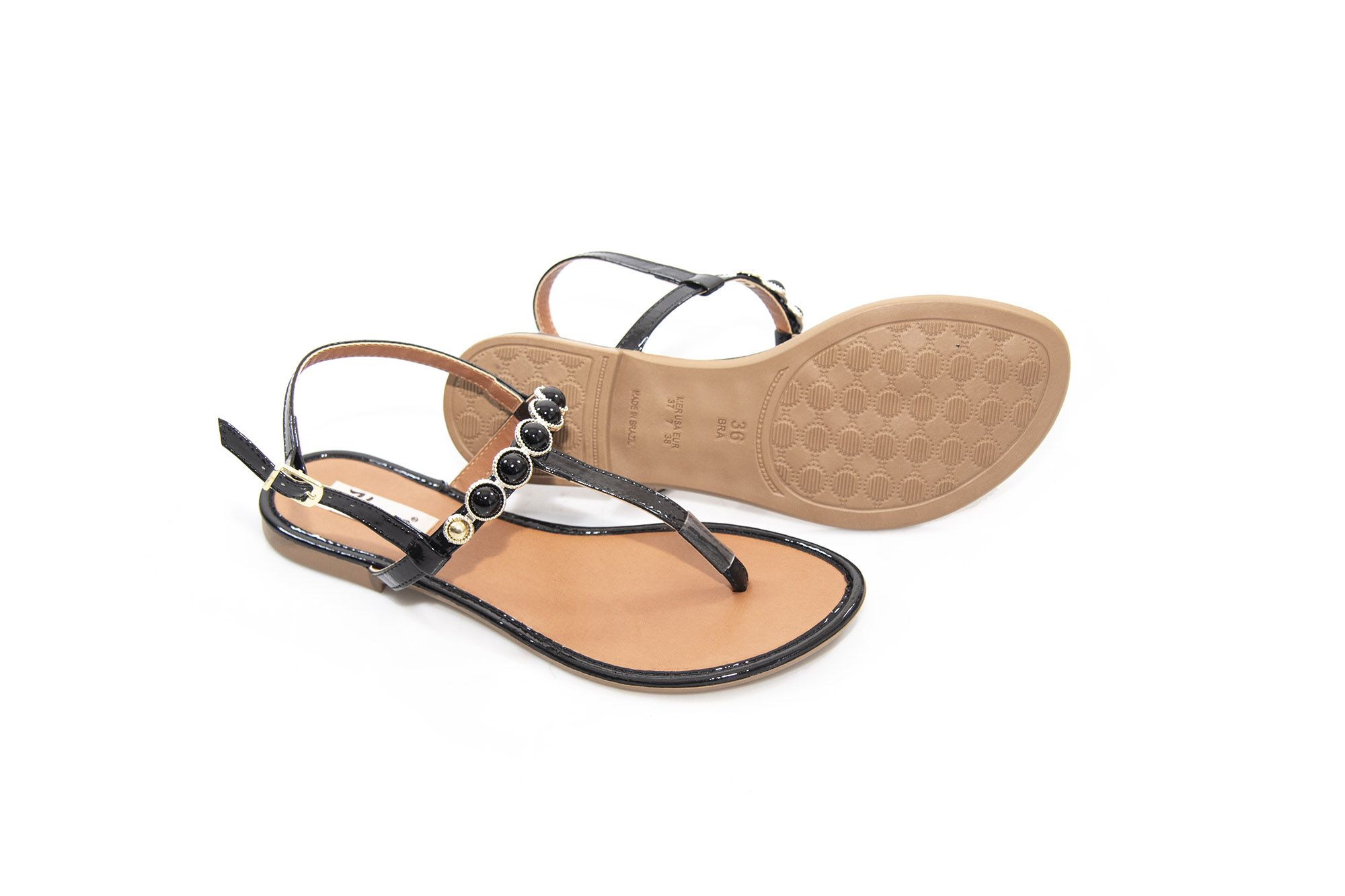 Sandália Vegano Shoes Pitangueira Preta