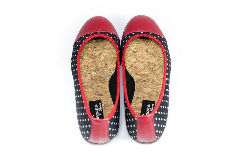 Sapatilha Vegano Shoes Esparáxis vermelha/preta