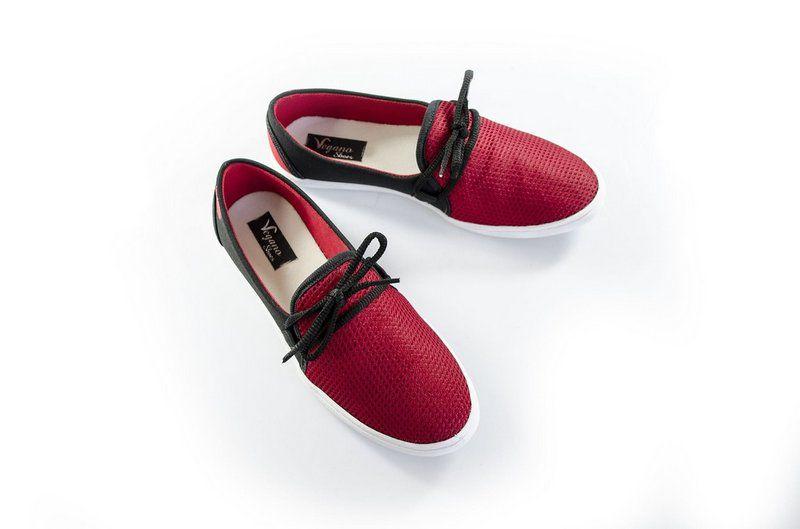 Sapatilha Vegano Shoes Grindélia vermelho/preto