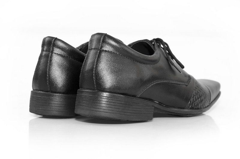 Sapato Social Vegano Shoes Vegan Nature preto com cadarço