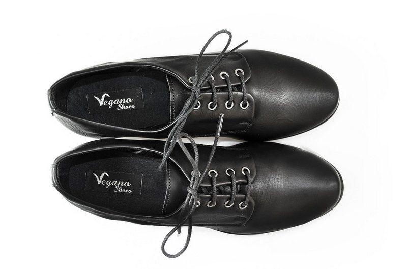 Sapato Vegano Shoes Derby Preto