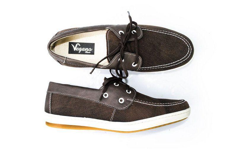 Sapato Vegano Shoes Dock side marrom