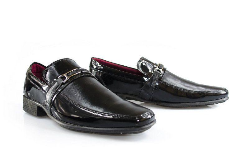 Sapato Vegano Shoes Guaritá Verniz Preto