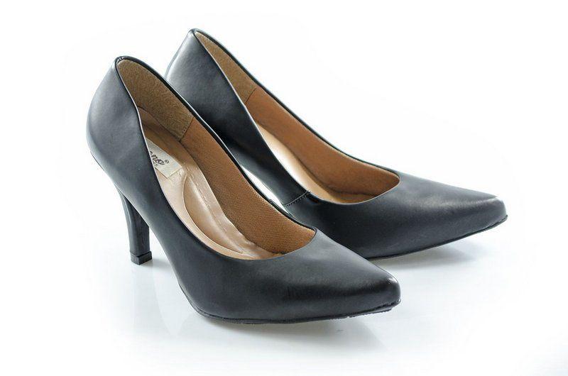 Sapato Vegano Shoes Scarpin Acalifa preto