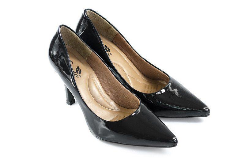 Sapato Vegano Shoes Scarpin Uniflora preto