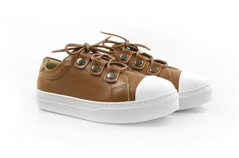 Tênis Flatform Vegano Shoes Amor Perfeito Caramelo