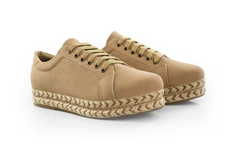 Tênis Flatform Vegano Shoes Capuchinha Nude