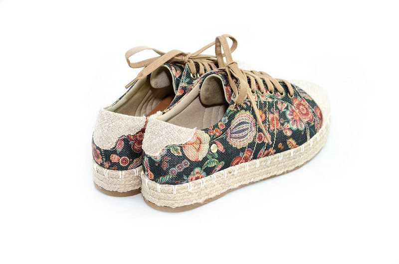 Tênis Flatform Vegano Shoes Orquídea Floral