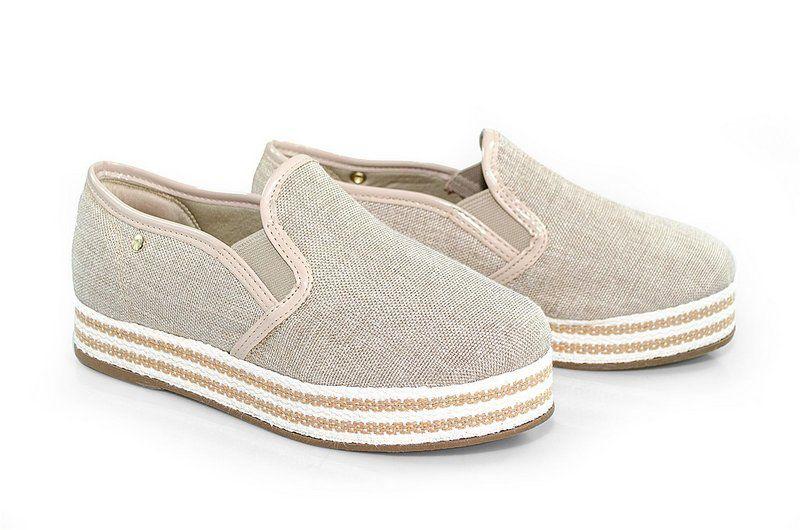 Tênis Flatform Vegano Shoes Pândanos Nude