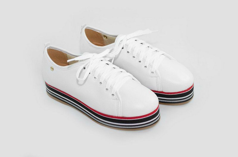 Tênis Flatform Vegano Shoes Samambaia Branco