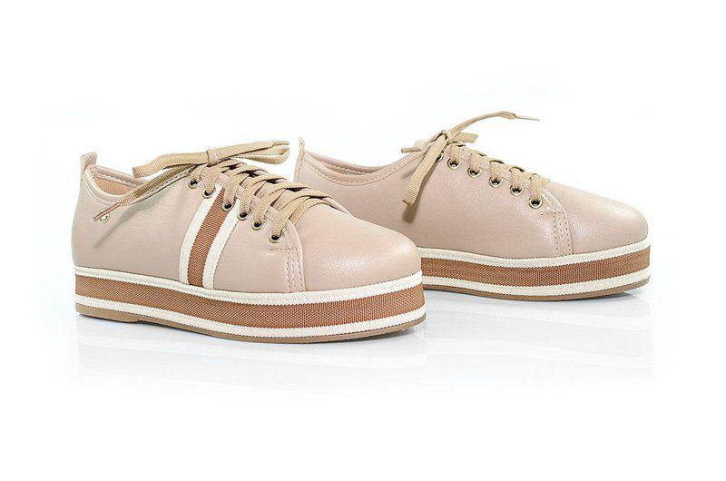 Tênis Flatform Vegano Shoes Samambaia Nude