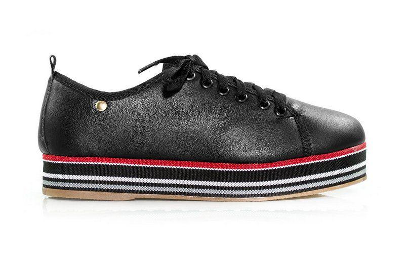 Tênis Flatform Vegano Shoes Samambaia Preto