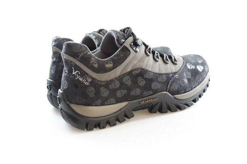 Tênis Vegano Shoes cross Lupinus preto/cinza caveirinha