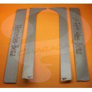 Aplique/Acabamento CHARADA em Inox da Coluna da Porta MB HPN/Frontais/Atron (Par)
