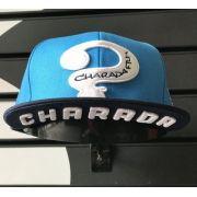 Boné CHARADA Azul Aba Reta COM BORDADO