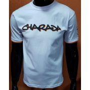 Camiseta CHARADA Branca Interrogação nas Costas