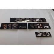 Kit de Placas SCANIA 112 HW (4 Peças) em Acrílico CHARADA